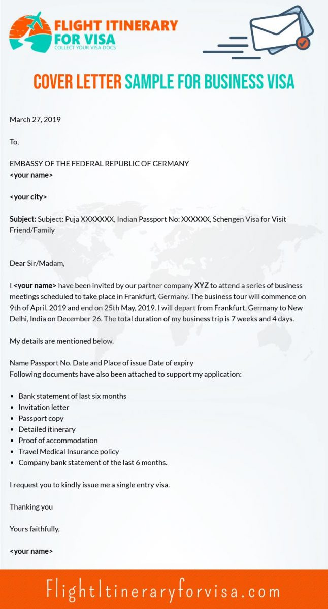 cover letter for schengen visa