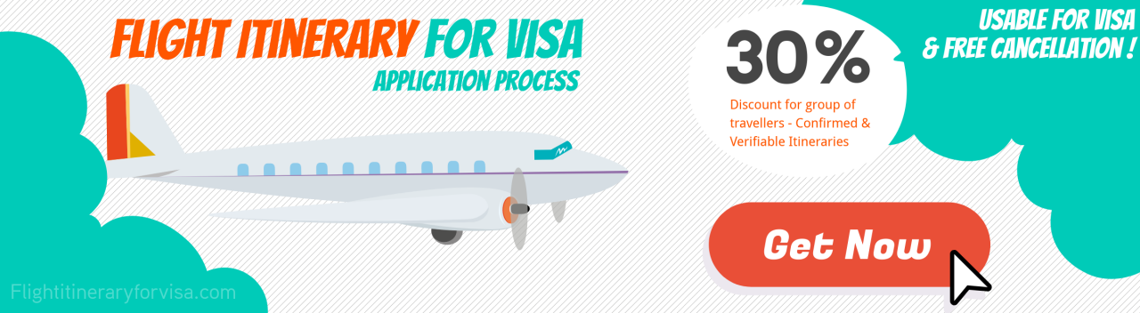 Flight Reservation For Visa