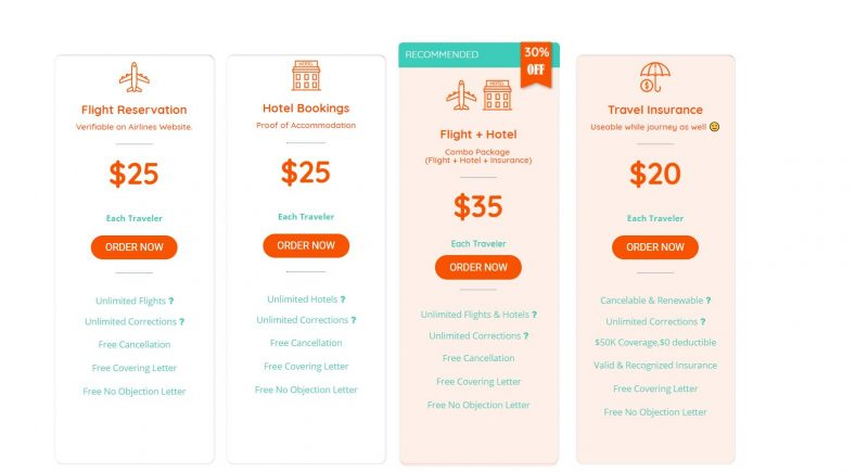 Flight Itinerary and Hotel Bookings Pricing Form