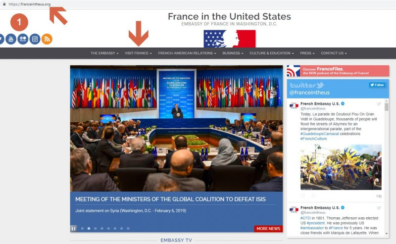 France Consulate General in Washington - Step 1