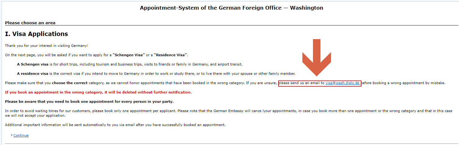 Germany Embassy Appointment