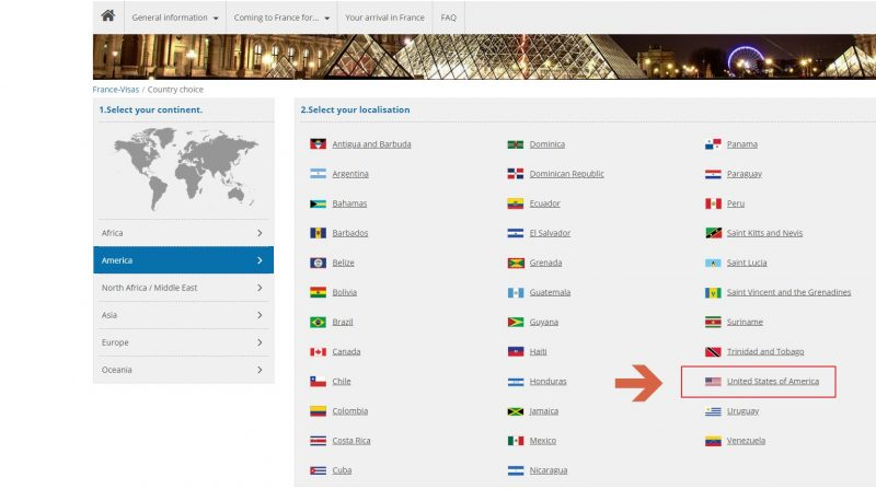 France diplomatic missions - Step 4