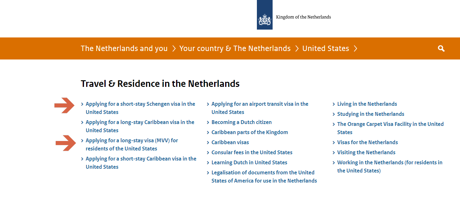Dutch Visa For USA - Step 2