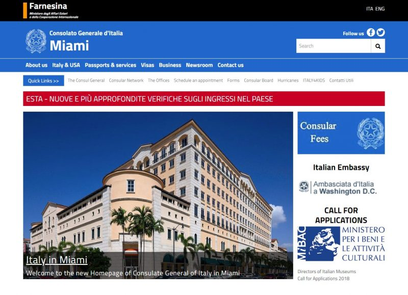 Italy Consulate General in Miami -Official website