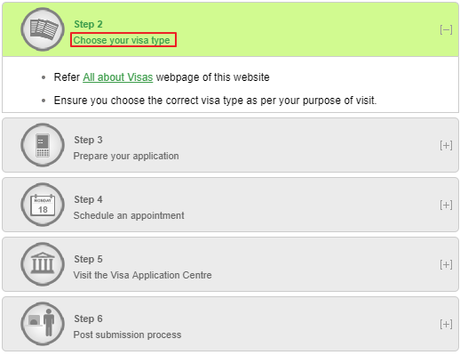 Italian Embassy in New Delhi - Pick the Visa Category