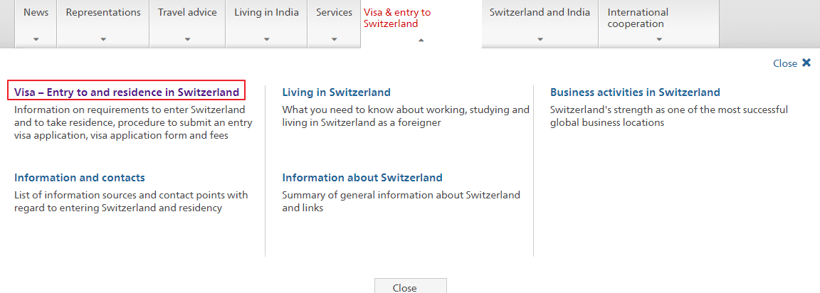 Swiss Embassy in New Delhi - Visa Services