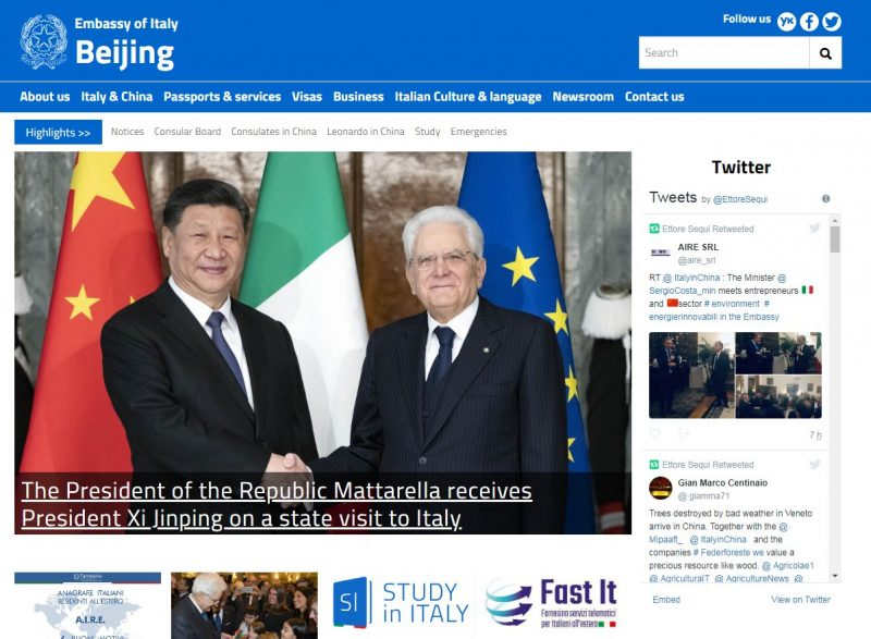 Embassy of Italy in Beijing - Home Page