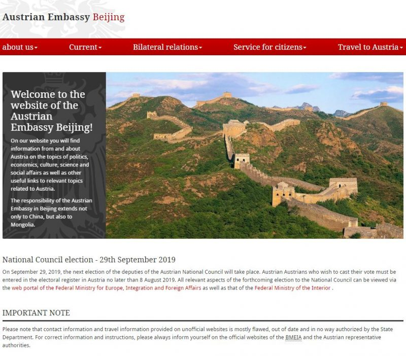 Embassy of Austria in Beijing - Home Page