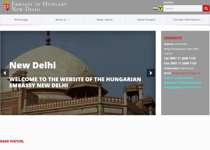 Embassy of Hungary in New Delhi - Home Page