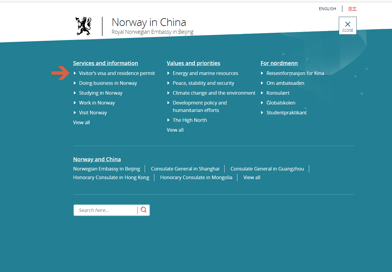 Embassy of Norway in Beijing - Visa