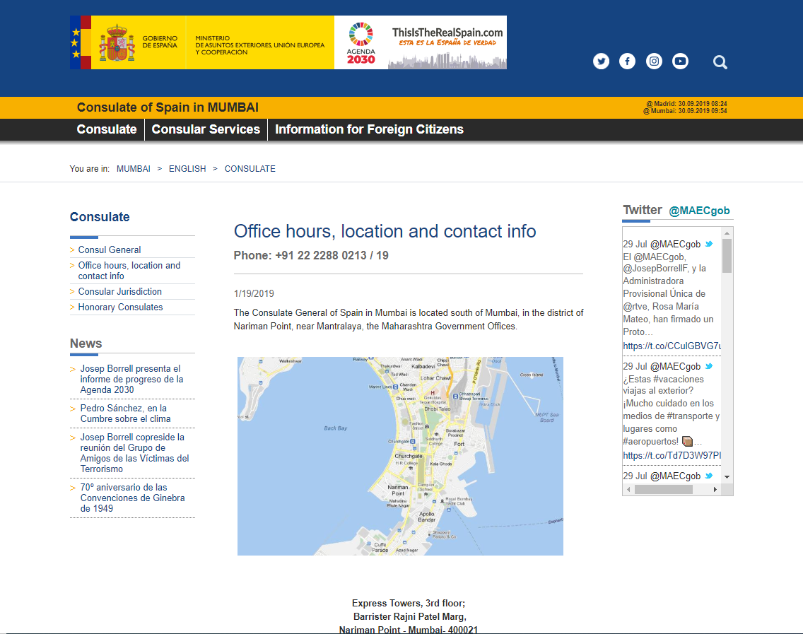Consulate General of Spain in Mumbai - Home Page