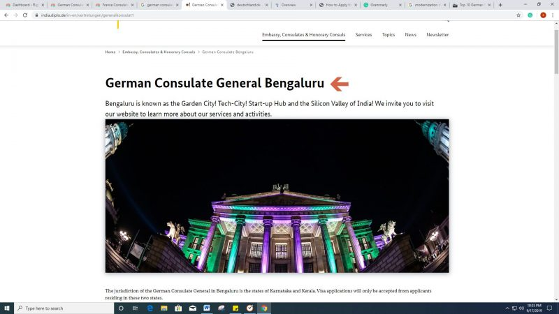 German Consulate Chennai - Jurisdiction